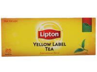 Trà đen Lipton nhãn vàng - 50g (2 gói x 25 túi)