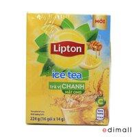 Trà Lipton ice tea hòa tan vị chanh mật ong - hộp 224g (16 gói x 14g)