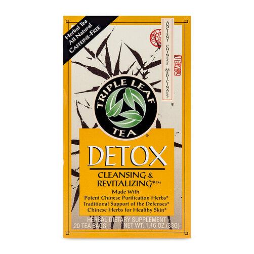 Trà thảo dược thanh lọc cơ thể Triple Leaf Tea Detox Cleansing & Revitalizing - 20 túi