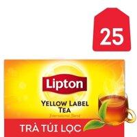Trà túi lọc nhãn vàng Lipton hộp 50g
