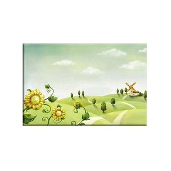 Tranh Canvas Ngôi nhà và cối xay gió-TCV0031