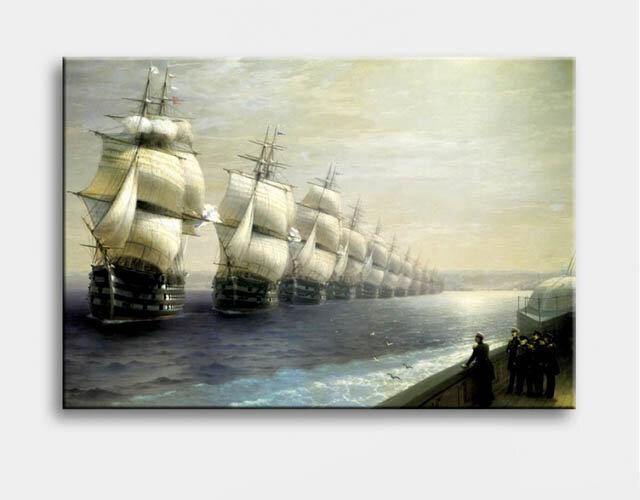 Tranh Canvas Vicdecor ra khơi TCV0017