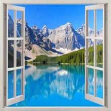Tranh dán tường cửa sổ 3D Vạn Tường VT0094A