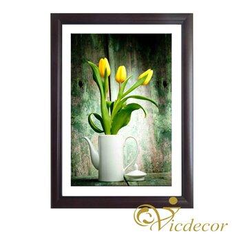 Tranh đơn sắc Tulip vàng Vicdecor TDS0026