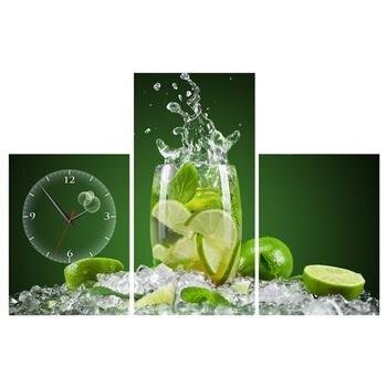Tranh đồng hồ Chanh nước Vicdecor DHT0201