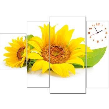 Tranh đồng hồ hoa hướng dương TDH 35