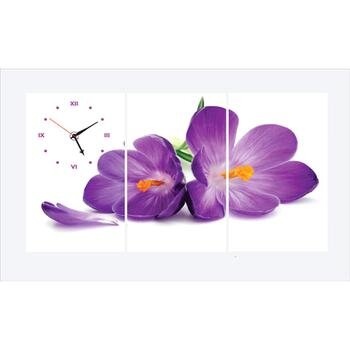 Tranh đồng hồ hoa lan TDH 17