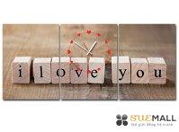 Tranh đồng hồ Món quà tình yêu Suemall TY140703