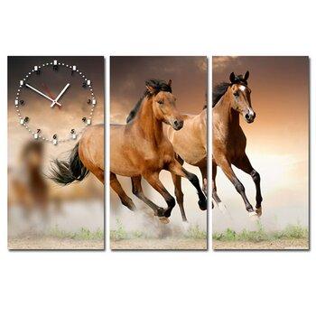 Tranh đồng hồ Song mã Suemall DC140106