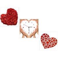 Tranh đồng hồ tình yêu TDH14