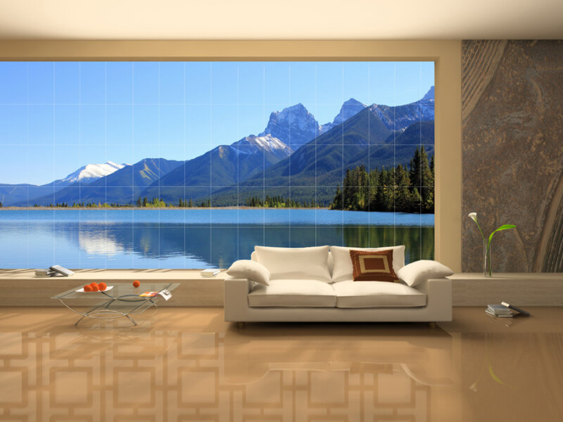 Tranh gạch trang trí phòng khách tổng hợp DS1001