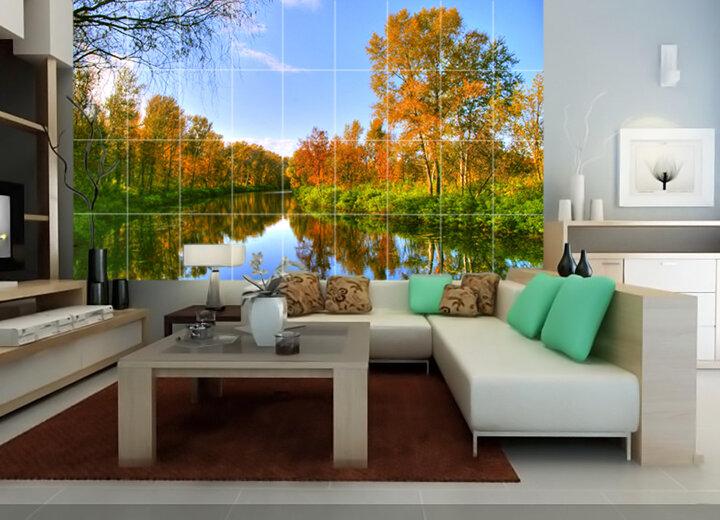 Tranh gạch trang trí phòng khách DS1002