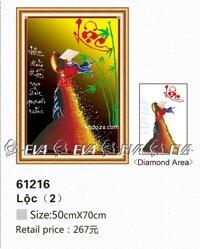 Tranh gắn đá lộc - EVA61216 (EVA-61216)