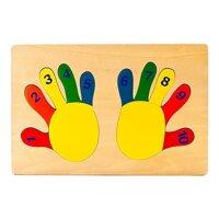 Tranh ghép bàn tay học số Vietoys VT3P-0030