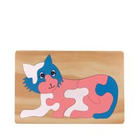 Tranh ghép bằng gỗ hình con Mèo Edugames - 16 x 24 cm