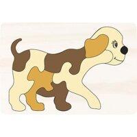 Tranh ghép hình con chó - 16 x 24 cm