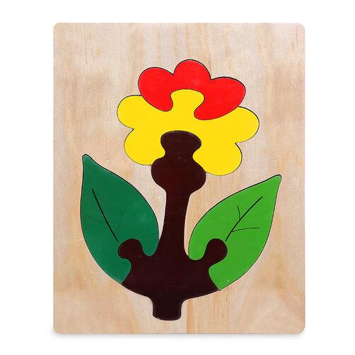 Tranh ghép Hoa cúc đỏ For Kids 20x25cm VT3P-01276