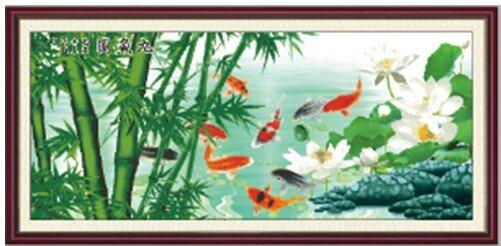 Tranh Hoa Sen Cá Chép H547