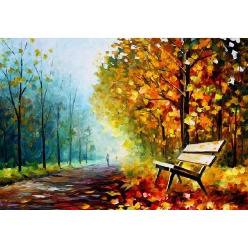 Tranh in canvas VTC Luna CV-0001 - Con đường hàng cây, 60 x 40cm