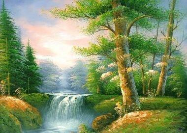 Tranh in canvas VTC Luna CV-0003 - Cảnh đẹp thiên nhiên, 60 x 40cm