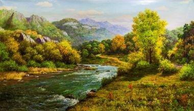 Tranh in canvas VTC Luna CV-0046 - cảnh đẹp thiên nhiên, 70 x 40cm