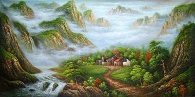 Tranh in canvas VTC Luna CV-0048 - cảnh đẹp thiên nhiên, 100 x 50cm