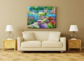 Tranh in canvas VTC vườn hoa Luna CV-0014 - 60 x 40cm