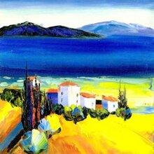 Tranh in canvas VTC LunaCV-0157 - cảnh biển, 40 x 40 cm
