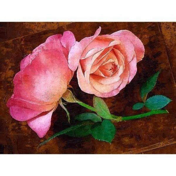 Tranh in canvas VTC LunaCV-0231 - hoa hồng, 66 x 50cm