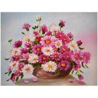 Tranh in canvas VTC LunaCV-0334 - giỏ hoa cúc đẹp
