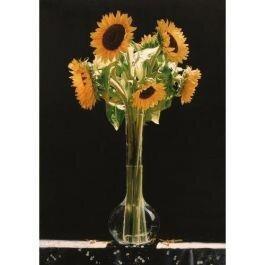 Tranh in canvas VTC LunaCV-0207 - lọ hoa hướng dương, 50 x 70cm