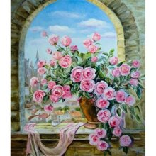 Tranh in canvas VTC LunaCV-0170 - hoa hồng, 50 x 60cm