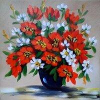 Tranh in canvas VTC LunaCV-0335 - bình hoa đẹp