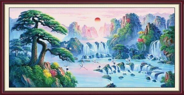 Tranh in canvas VTC LunaPT-0001 - 100 x 50 cm