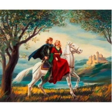 Tranh in canvas VTC LunaCV-0365 - tình yêu cổ tích, 60 x 50 cm ...