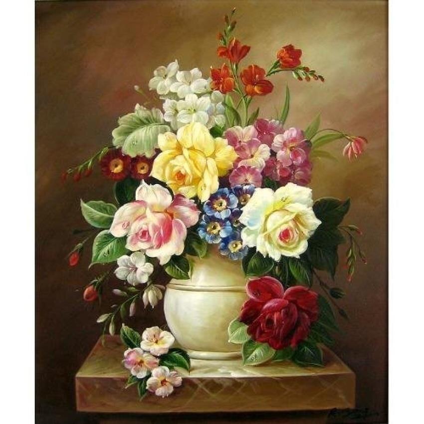 Tranh in canvas VTC LunaCV-0343 - bình hoa đẹp
