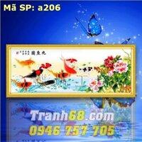 Tranh thêu chữ thập cá chép DLH-YA206