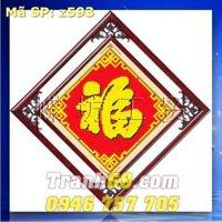 Tranh thêu chữ thập chữ phúc DLH-YZ593