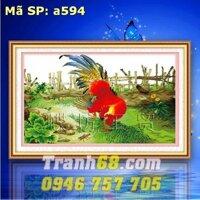 Tranh thêu chữ thập con gà DLH-YA594