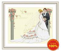 Tranh thêu chữ thập đám cưới - DLH-YX208