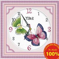 Tranh thêu chữ thập đồng hồ - DLH-Y8142