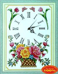 Tranh thêu chữ thập đồng hồ - DLH-Y8107