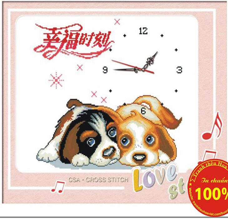 Tranh thêu chữ thập đồng hồ DLH-Y8160