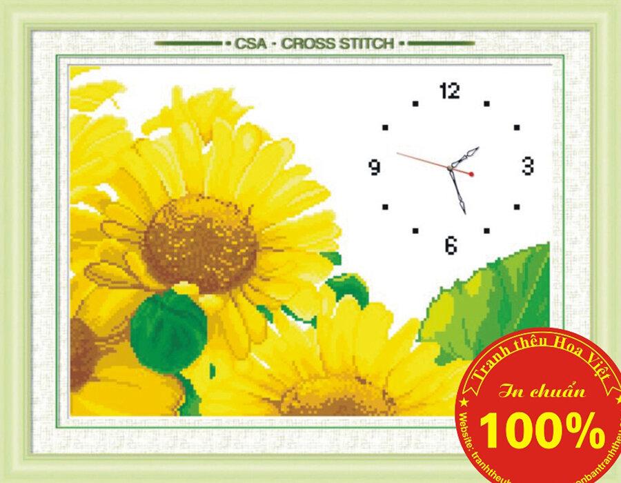 Tranh thêu chữ thập đồng hồ DLH-Y8150