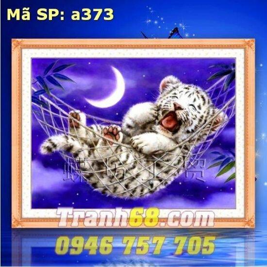 Tranh thêu chữ thập động vật - DLH-YA373