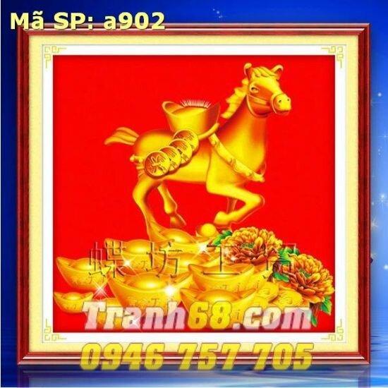 Tranh thêu chữ thập động vật - DLH-YA902