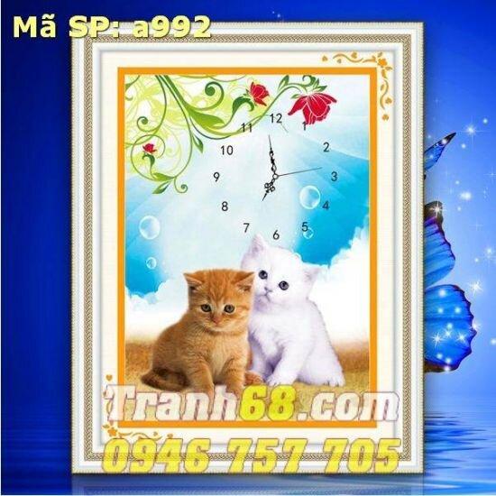 Tranh thêu chữ thập - động vật - DLH-YA992
