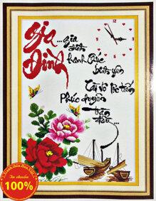 Tranh thêu chữ thập gia đình DLH-222688