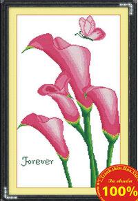 Tranh thêu chữ thập hoa - DLH-YH334