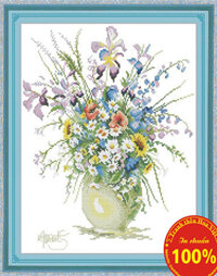 Tranh thêu chữ thập hoa - DLH-YH271